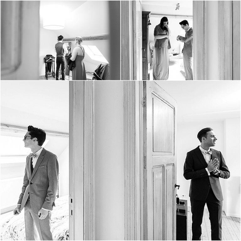 huwelijksdetails, cafe costme, spiegel, horloge